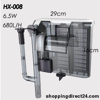 Waterfall Aquarium Filter Pump Tank External Wall-Process Processing Oil Filamenting Prootein Skimmer