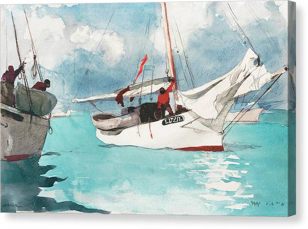 Winslow Homer Fishing Boats Key West 1903 - Stretched Canvas Print Ready to Hang