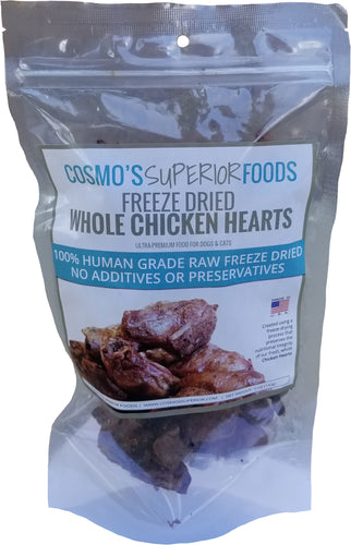 Cosmo's Whole Chicken Hearts 5 oz.