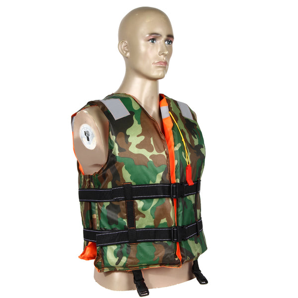 b64577295b5bb ... Adult Swimming Life Jacket Vest Double Sided Camo & Orange - Limitless  Sales ...