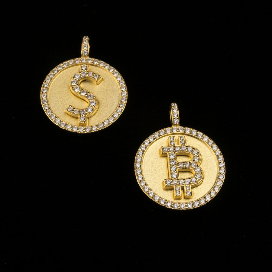 18K Gold, Dollar Bitcoin