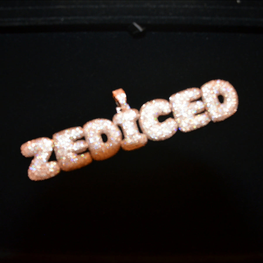 ZEDICED Custom 18K Rose Gold Bubble Necklace - zediced