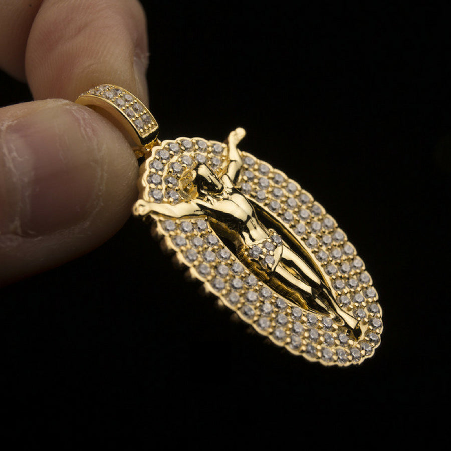 18K Gold, Jesus Cross