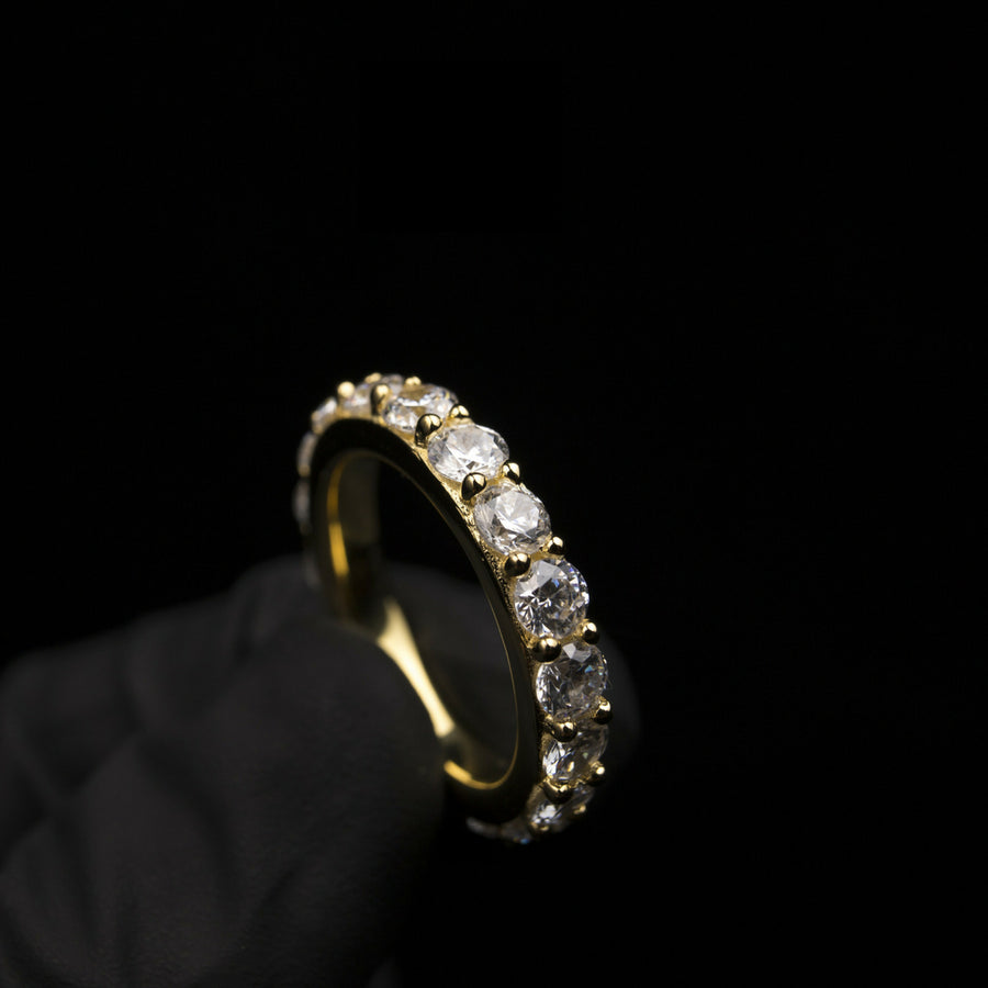 18K Gold, Single Layer Ring