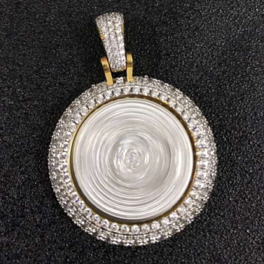 18K Gold, Custom Spinning Crown Pendant - zediced