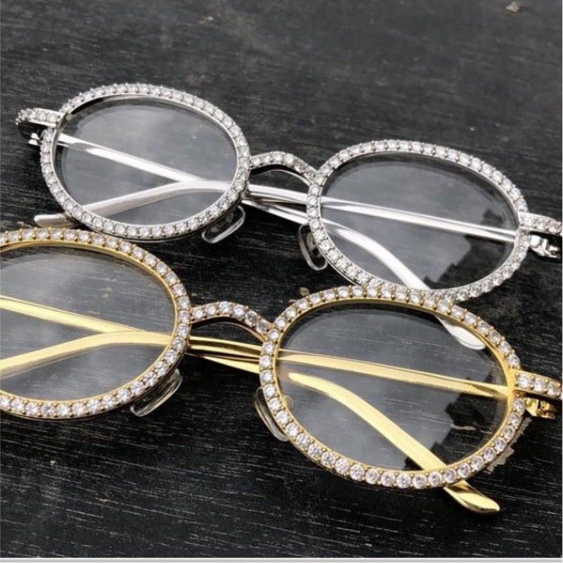 71f91dd81eaa4 18k Iced Out Glasses - 18K Gold w CZ Stone