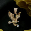 18K Gold, ZEDICED Eagle Pendant - zediced
