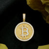 18K Gold, Bitcoin Pendant - zediced