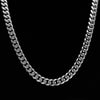 18K Gold, 10mm Miami Cuban Ice Clasp Chain - zediced