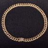 18K Gold, 12mm Miami Cuban Royal Choker - zediced