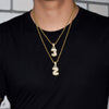 ZEDICED 18K Gold Custom Bubble Number Necklace - zediced