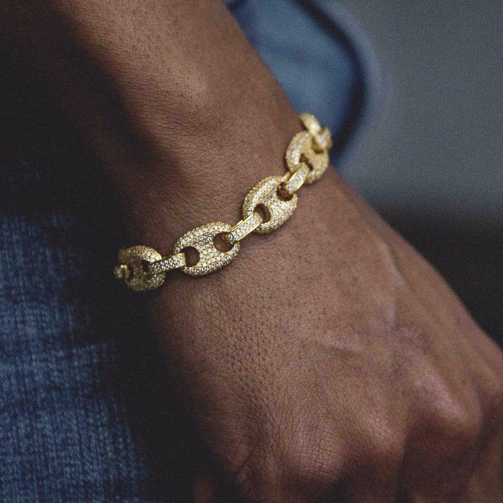 Gucci Link Chain >> 18k Gold 12mm Gucci Link Chain