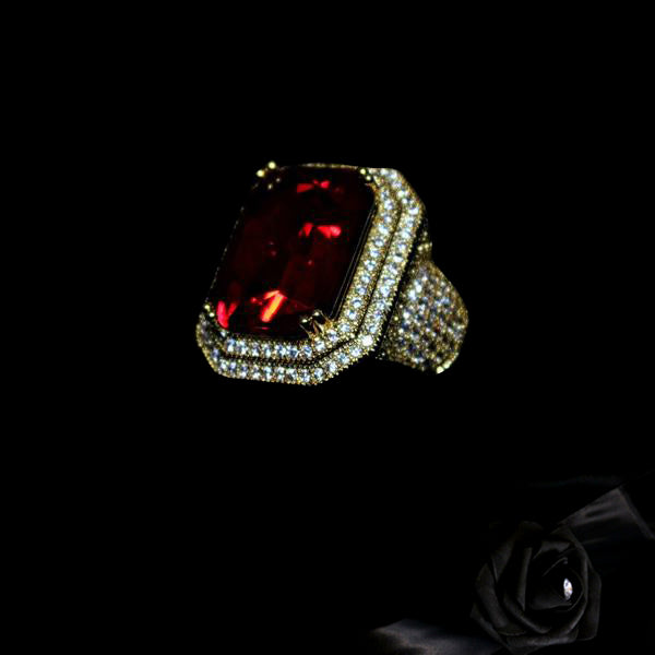 18K Gold, Blood Ruby Ring - zediced