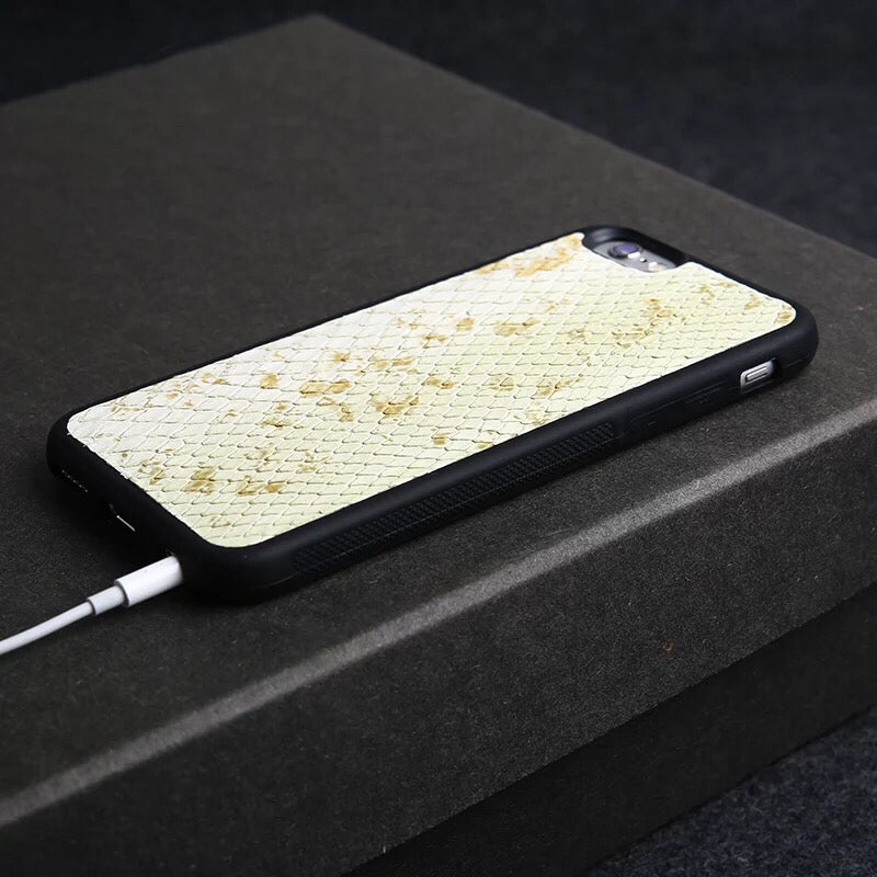 Light Green Snakeskin iPhone Case