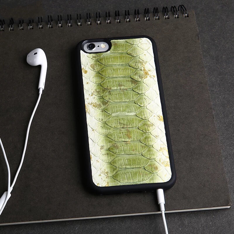 Double Tone Light Green Python iPhone Case