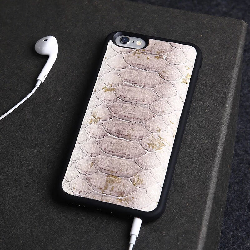 Double Tone Light Purple Python iPhone Case