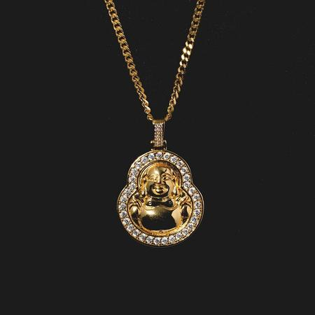18K Gold, Laughing Budha - zediced