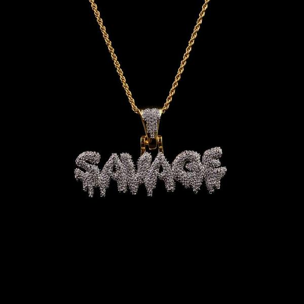 18K Gold, Savage Pendant
