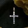 18K Gold Iced Cross - zediced