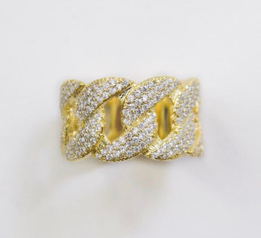 18K Gold Royal Cuban Ring - zediced