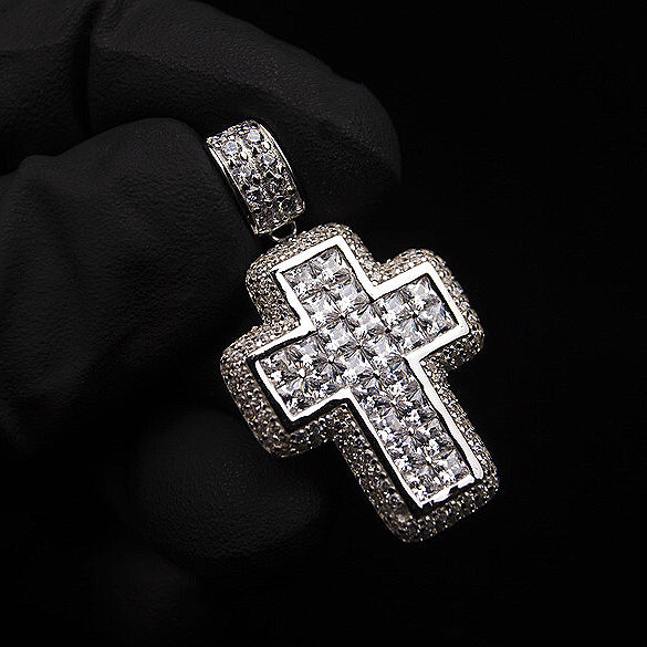 18K Gold, Intercut Princess Cross