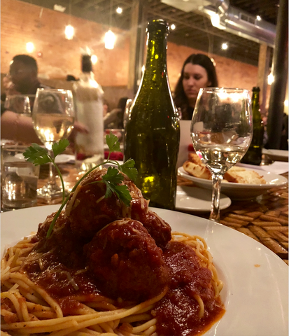 Spaghetti and Meatballs at Tappo Restaurant