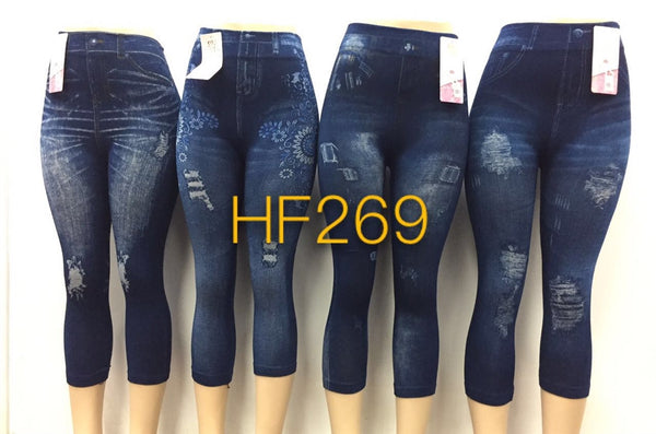NYC Wholesale Lady Girls Jean Leggings Pants Knickers, HF269 - OPT FASHION WHOLESALE