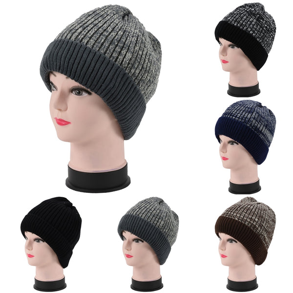 Wholesale Winter Knit Beanie Hats With Fleece Lining H53101 - OPT FASHION WHOLESALE