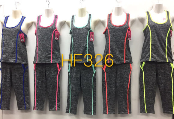 NYC Wholesale YOGA GYM Sports Set Legging And Top, HF326 - OPT FASHION WHOLESALE
