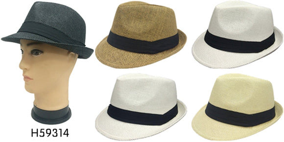 Wholesale Fedora Hats Unisex H59314 - OPT FASHION WHOLESALE