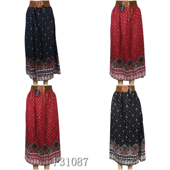 Wholesale Fashion Flower Print Long Maxi Skirts - OPT FASHION WHOLESALE