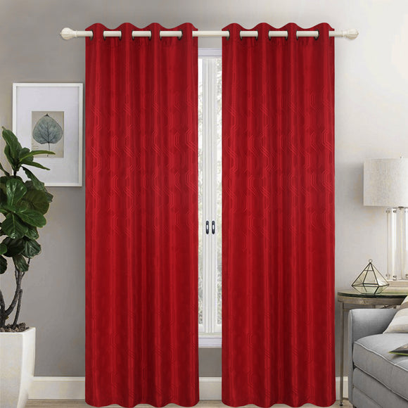 Jacquard Stripe Fabric Grommet Top Window Curtain Panel, 81025 - OPT FASHION WHOLESALE