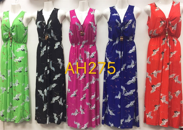 NYC Wholesale Fashion Long Maxi Dresses Summer Sundresses, AH275 - OPT FASHION WHOLESALE