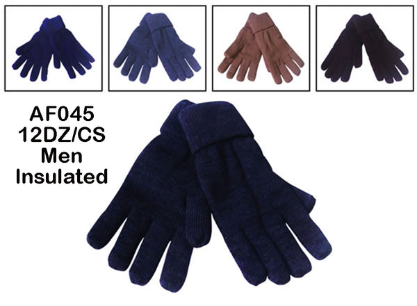 Men Knit Insulated Gloves AF045G - OPT FASHION WHOLESALE