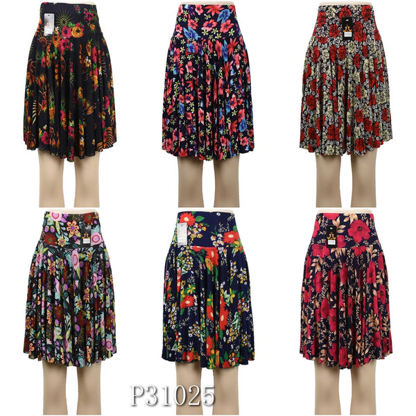 Wholesale Fashion Flower Print Long Maxi Skirts, P31025 - OPT FASHION WHOLESALE