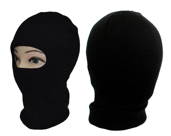 1 HOLE FACE MASK KNIT LONG SKI BALACLAVA H53003 - OPT FASHION WHOLESALE