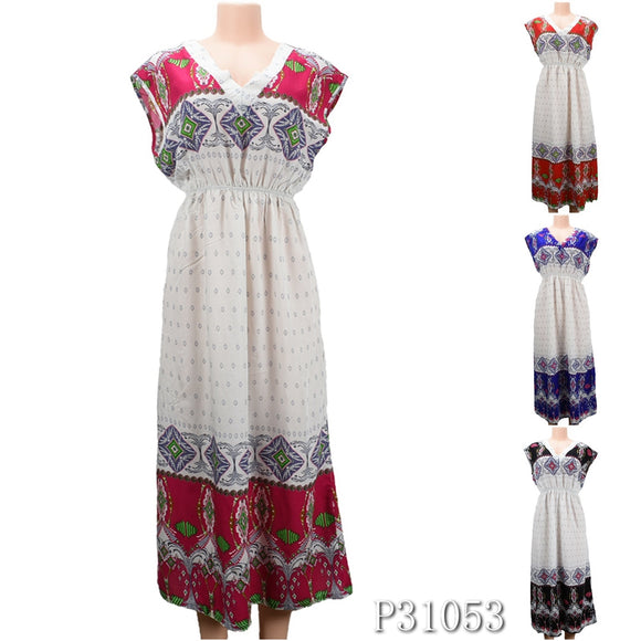 NYC Wholesale Fashion Long Maxi Dresses Summer Sundresses, P31053 - OPT FASHION WHOLESALE