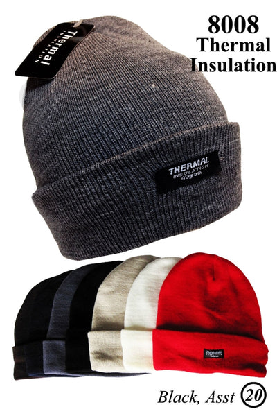 Wholesale Cuffed Long Beanie Thermal Insulated Skull Ski Hats AA343 - OPT FASHION WHOLESALE