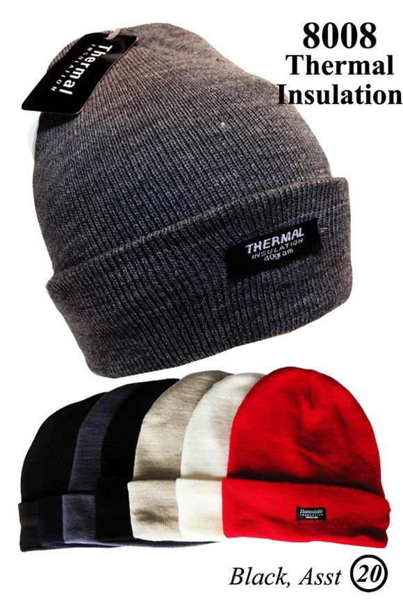 Wholesale Heavy Cuffed Beanie Thermal Insulated Ski Hats H8008