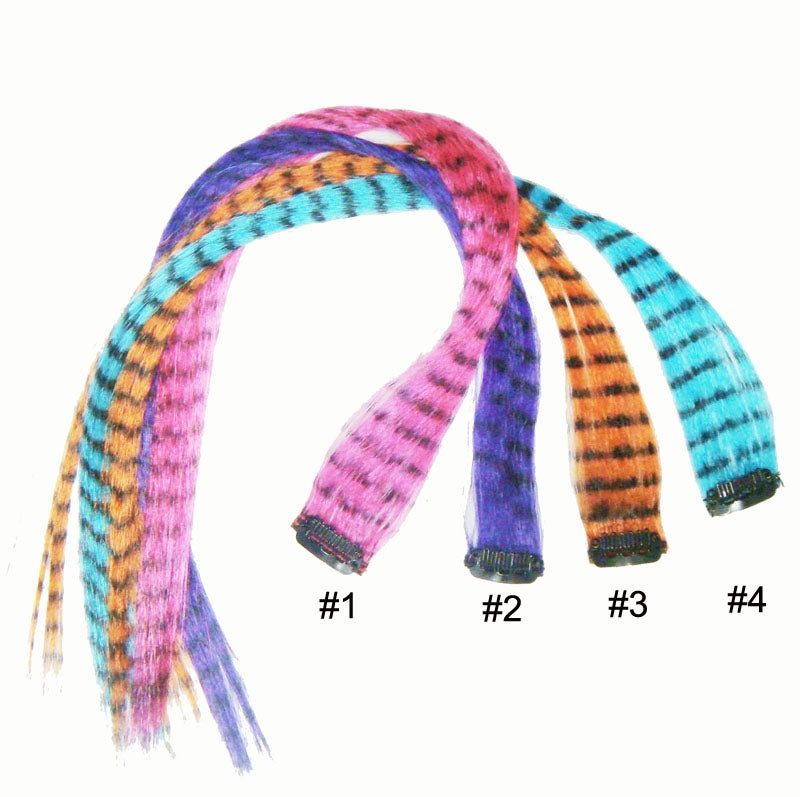 Wholesale Clip In On Fashion Grizzly Feather Print Hair Extensions H0911