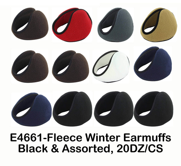 Wholesale Unisex Winter Fleece Earmuff Ski Sports Ear Warmer 4661 - OPT FASHION WHOLESALE