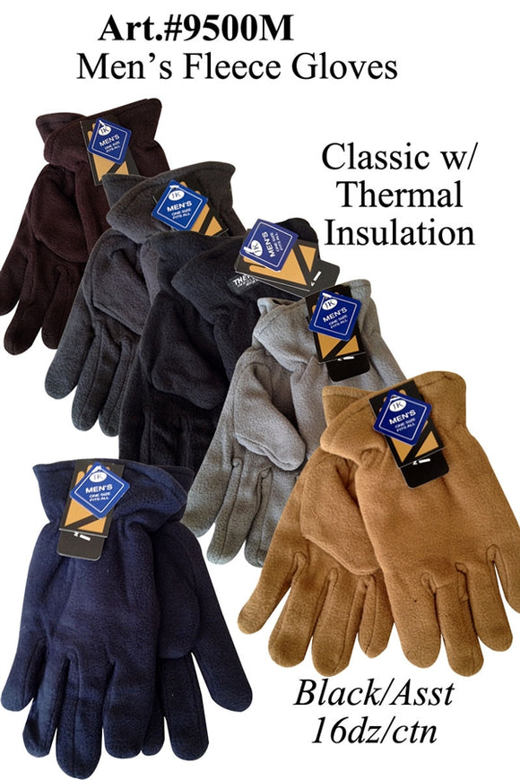 Men's Fleece Classic Glove Solid Plain G9500M - OPT FASHION WHOLESALE