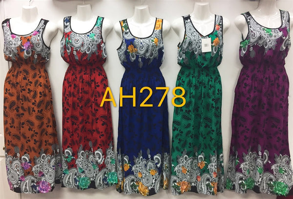 NYC Wholesale Fashion Long Maxi Dresses Summer Sundresses, AH278 - OPT FASHION WHOLESALE