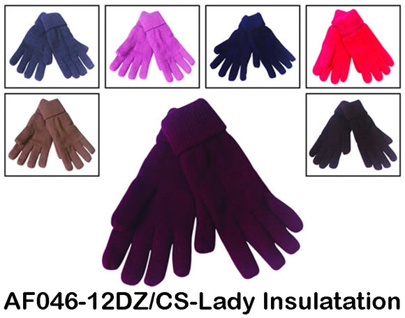 Lady Knit Insulated Gloves AF046G - OPT FASHION WHOLESALE