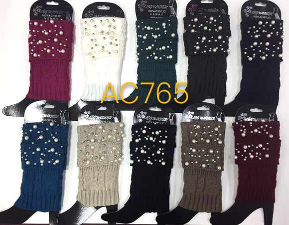Wholesale Cable Knit Short Leg Warmers Boot Cuffs AC765 - OPT FASHION WHOLESALE