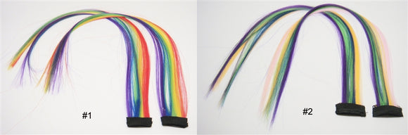 Wholesale Clip In On Fashion Hair Extensions H0907 Rainbow - OPT FASHION WHOLESALE