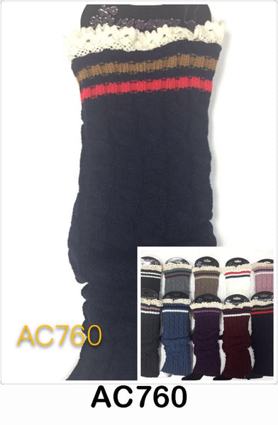 Wholesale Cable Knit Long Leg Warmers Boot Cuffs AC760 - OPT FASHION WHOLESALE