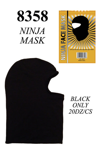 Stretch Balaclava Ninja COTTON Ski Face Mask AA986 - OPT FASHION WHOLESALE