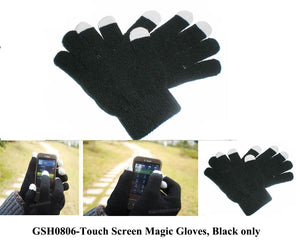Wholesale Lot 12 Pairs Touch Screen Texting Knit Gloves for iPhone iPad GPS Smartphones Men and Lady Size GSH0806