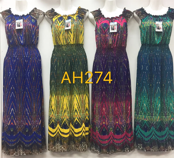 NYC Wholesale Fashion Long Maxi Dresses Summer Sundresses, AH274 - OPT FASHION WHOLESALE